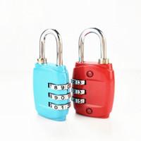 Portable 3 Comporre il numero di combinazione della cifra password di blocco di sicurezza di viaggio Proteggere Locker blocco di viaggio per i bagagli borsa zaino cassetto 8 colori