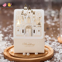 75*38*105mm Hollow Golden Castle Wedding Decoration Candy Bo...