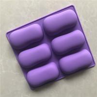 6 mano molde jabón hecho a mano de gel de silicona molde de pastel de silicona pizca de repostería casera XG791 herramienta de bricolaje
