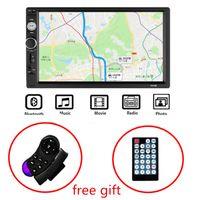 """2 Din Rádio Do Carro Autoradio 7 """"Hd Multimídia Player 2din Tela de Toque de Áudio Do Carro Estéreo Mp5 Bluetooth Usb Tf Fm Câmera Android"""