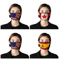 Adult Antidust Gesichtsmasken USA Japan Kanada-Flaggen-Druck Anti Droplet Respirator Mascherine Uvproof Mouth 2 7BR E19 Maske schützen