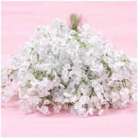 Bebês Respiração Flores Artificiais Falsos Gypsophila DIY Bouquets Florais Arranjo de Casamento Decoração de Casa Branco