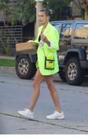 2020 della molla nuovo design stella Hailey stesso stile al neon di colore geen delle donne di medio lungo manica lunga giacca sportiva giacca più di formato XS