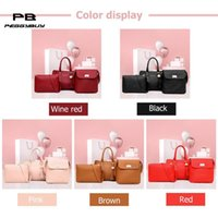 3Pcs Sets Women Handbags Leather Shoulder Bags Female Large ...