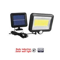 100/56/30 LED Güneş Işık Lambası Açık PIR Hareket Sensörü Güneş Enerjisi Paneli Bahçe Işık Gece Güvenlik Sokak Yard Yolu Duvar Lambası bölünmüş moun