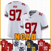 NCAA Ohio State Buckeyes 97 Nick Bosa 7 Dwayne Haskins Jr American Football Jersey 26 Tom Brady Saquon Barkley