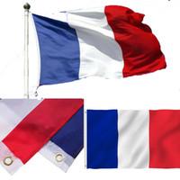 Флаг Франции горячий продавать 90x150cm Дешевые Французский флаг 3x5ft Полиэстер Печать Страна Национальные флаги Франции, бесплатная доставка