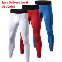 size 40 7f785 45629 Livraison locale US YD 3 pcs Compression Pantalon Gym Culturisme Pantalon  Sport Fitness Serré Sportswear Leggings