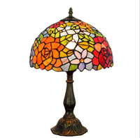 Motivo Ligting Facture Tiffany Table Lamp For Living Room Decor Stained Glass europea classica barocca di Fiori