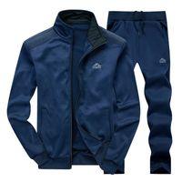 Männer Trainingsanzüge mit Hosen Neue Turnhallen Set Verdicken Fleece Männlichen Herbst Zwei Teile Kleidung Casual Track Anzug Sportswear Sweatsuits S-4XL