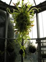 Indoor-Handgeblasenes Glas Nepenthes-Kronleuchter Pendelleuchten Laubdesign Verschiedenes Hängende Kronleuchter Beleuchtung mit LED-Birnen