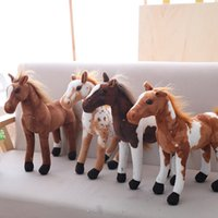 Simulation Model Black Horse Stuffed Plush Toy Good Quality ...