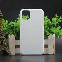 Cas de téléphone blanc ouvert pour iPhone 11 PRO XR XS MAX 7 8 Plus pour Touch 5 6 Coque de presse à chaleur de sublimation 3D