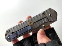 Alta Qualidade Chris Reeve Grande Sebenza 21 Faca dobrável S35VN Lâmina Titânio Punho Perfeito Presente Tático EDC Facas De Bolso