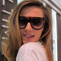 Gafas de sol de lujo Gafas de sol Oval Oval Glasses UV Protección Lente Sombra Ladies Tortuga Azul Gafas de sol Mujer Gafas de sol