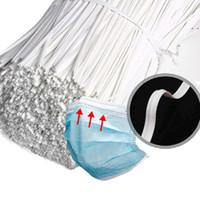 مجانا dhl الشحن 1000 قطع pe البلاستيك انحناء الأسلاك diy قناع أقنعة تويست الأنف العلاقات جسر الأبيض 3 ملليمتر * 10 سنتيمتر