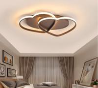 Led Avize Tavan Lambası Modern Aydınlatma Plafondlamp Salon Kidsroom Restoran Banyo 85v-260V LLFA için Işık Kalp şeklinde