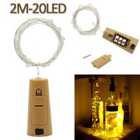 2m 20 LED Mini Bottle Stopper Lamp String Bar Decoration Str...