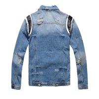 19FW nuovo Mens Denim Giacche Uomini Donne Hip Hop Retro Giacca casual qualità Distressed alta Strappato Giacca di jeans Streetwear