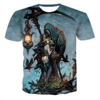2020 Mens-Schädel-T-Shirts Punk-Stil Schädel 3Dt- Shirts Männer Tops Hip Hop-T-Shirt 3D drucken