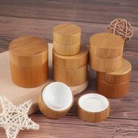 5g 10g 15g 20g 30g 50g de creme de creme de bambu frasco vazio labelo bálsamo recipiente largamente boca cosmética recipiente cosmético