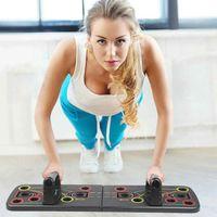 Faltbare Push-Up-Brett-Rack mit Zugseil Zug Gym Fitness System Trainings-Übungs-Liegestütze Ständer ZZA2082 1Pcs