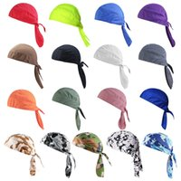Cycling Headwear Quick Dry Cycling Cap Head Scarf Summer Men Running Riding Bandana Headscarf Ciclismo Pirate Hat Hood Headband