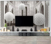 Custom Photo 3d Wallpape 3d Sphere Европейское Архитектурное Пространство Современный Домашний Декор Облицовка Гостиной Стены