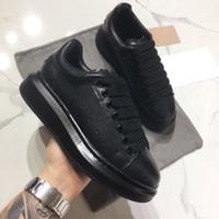 2019 дизайнер кроссовки повседневная обувь для женщин и мужчин зашнуровать натуральная кожа плоские повседневная обувь черный красный розовый кроссовки