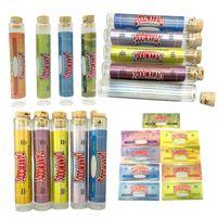 Dankwoods pre-roll comune Packaging bottiglia vuota sughero tubo di vetro con adesivi preroll bottiglia di vetro vuota a secco a base di erbe pacchetto di tabacco