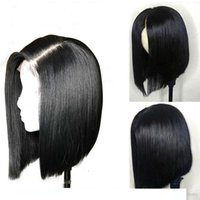 Lace Front Wig Bob Style For Black Women Unprocessed Virgin ...