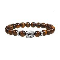 Braccialetti di monili delle donne dei braccialetti dei braccialetti dei monili dei monili della pietra naturale dei monili di pietra a buon mercato Braccialetti del Buddha per perline per gli uomini Braccialetto del chakra della lava del Buddha