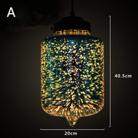 Modern 3D colorful romantic Starry sky hanging Glass shade P...