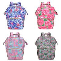 Zaini mummia floreale 7 Design Flamingo Stampa Bambino Diaffo Backpacks Mommy Borse di alimentazione Mamma Madre Madre Madre Backpacks Diaper Borse 06