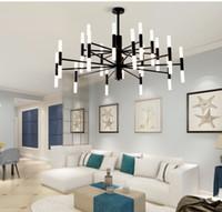 현대 패션 디자이너 블랙 골드 주도 천장 아트 데코 주방 거실 로프트 침실 샹들리에 조명 램프를 일시 중단