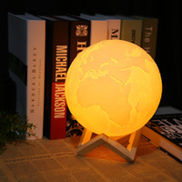 Lightme Night Light USB LED Rechargeable 3D Print Earth Moon...