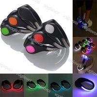 الجدة الإضاءة LED أحذية السلامة رباط الحذاء الجري الأحذية كليب إشارة البلاستيك فلاش ضوء مضيئة PP متعدد الألوان في الهواء الطلق ليلة تحذير DHL