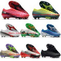 2020 en kaliteli erkek futbol ayakkabıları Mercurial Buharı VIII 13 Elite AG futbol krampon CR7 krampon Dikenler superfly scarpe calcio 02