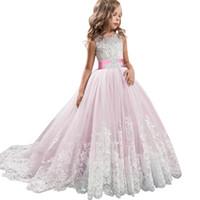 2019 الفتيات الصيف اللباس مراهق العروسة الاطفال فساتين للبنات ملابس الأميرة اللباس حزب فستان الزفاف 3 14 10 12 سنة