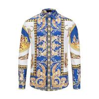 Горячий новенький из мужчин рубашка с длинным рукавом платья рубашки повседневная Harajuku мужская медуза роскошные рубашки