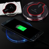 QI Standaard Draadloos opladen Pad voor Smart Phone Plastic Crystal Transparante Base Draadloze Draagbare Charger PK USB-oplader met doos