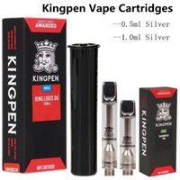 Hot King Pen 1ml Ceramic Coil Vape Cartridges Silver Flat Ti...