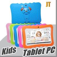 "JT DHL Kids Brand Tablet PC 7 ""Quad Core Core Детский планшет Android 4.4 Allwinner A33 Google Player WiFi большой динамик защитная крышка L-7PB"
