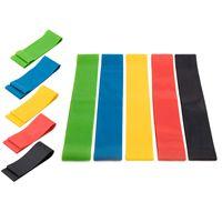 EU estoque 5 níveis de faixas de resistência para exercício de yoga puxando exercício alongamento pernas bunda