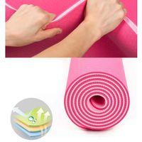Großhandel New 1Pc 6mm Dicke Yoga-Matte Anti-Rutsch-Pad Übung Gesundheit verlieren Gewicht Fitness Durable Mats FY6018