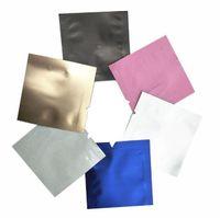 200Pcs 4.5x4.5cm миникассеты Красочной Чистой алюминиевой фольга Open Top Упаковка Мешки Майларовая Фольга упаковочной сумку для Candy Powder небольших подарков для хранения