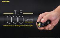 NITECORE TUP Mini-lampe de poche rechargeable par USB CREE XP-L HD V6 distance max. De faisceau de 1000 LM 180M Torche intelligente révolutionnaire EDC