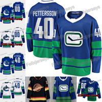 40 Elias Pettersson 2020 Vancouver Canucks Trikot von Alexander Edler Josh Leivo Quinn Hughes Jay Beagle Antoine Roussel Brock Boeser Bo Horvat