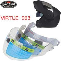 Lens için özel linkler! Flip up VIRTUE-903 tam yüz motosiklet kask için motosiklet kask kalkanı visor 3 renkler