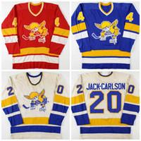 Vintage 1970-1976 20 Jak Carlson Mike Walton 4 Ray McKay Minnesota Sabah Aziz hokey forması özelleştirme herhangi bir oyuncu veya isim